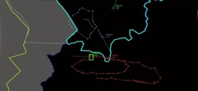 TSK düşürülen uçağın radar izini paylaştı