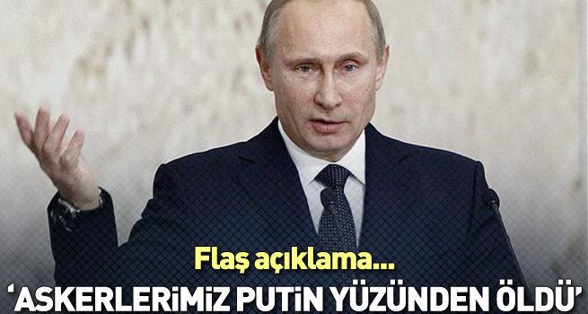 Rus Profesör: Askerlerimiz Putin yüzünden öldü