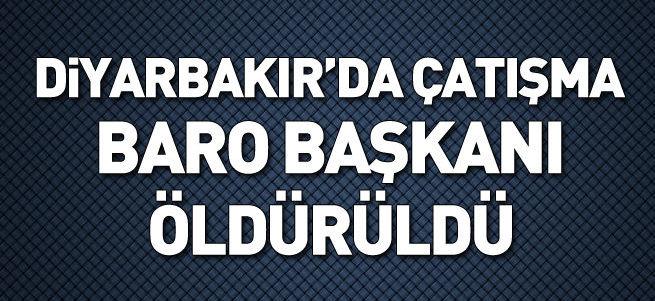 Diyarbakır'da baro açıklaması sırasında çatışma çıktı