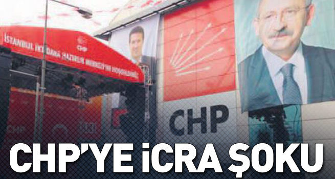 CHP'ye icra şoku