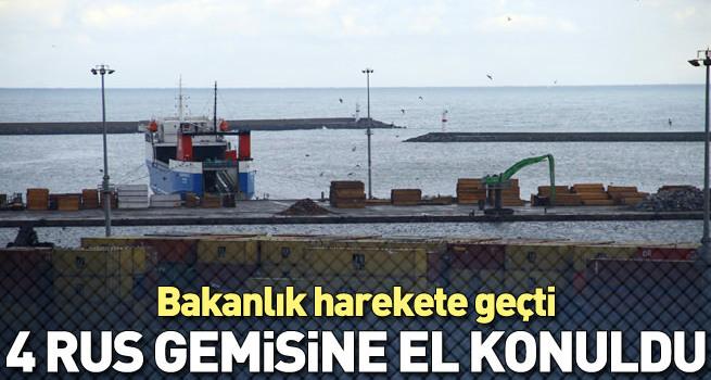 Samsun'da 4 Rus gemisine el konuldu