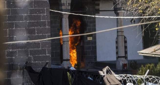 PKK, Osmanlı eseri tarihi camiyi yaktı!
