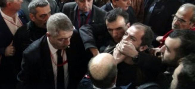 CHP kongresinde arbede! 1 yaralı, 2 gözaltı