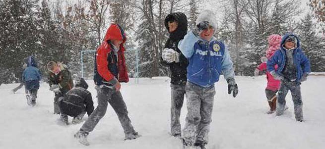 Çorum'da okullara 2 gün kar tatili