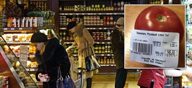 Rusya'da domatesin tanesi 6 TL'den satılıyor