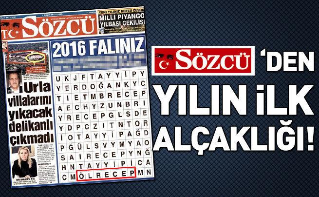 Sözcü'den Erdoğan'a alçak ima