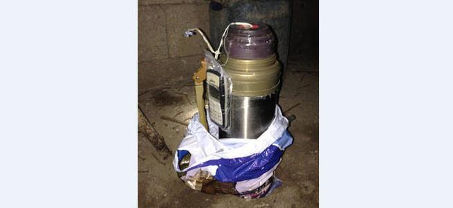 Termos içinde bomba düzeneği yakalandı!