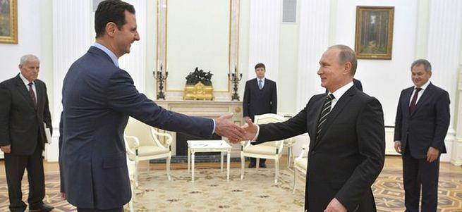 Suriye'nin anahtarını Putin'e verdi