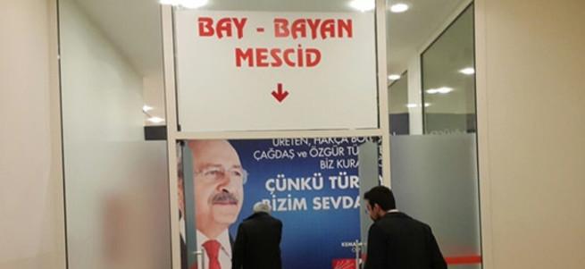 CHP kongresinde mescid skandalı