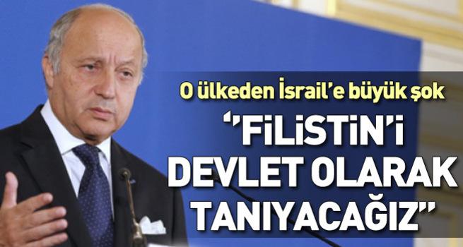 Fabius: Filistin'i devlet olarak tanırız