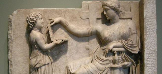 Antik Yunan heykelinde laptop benzeri figür