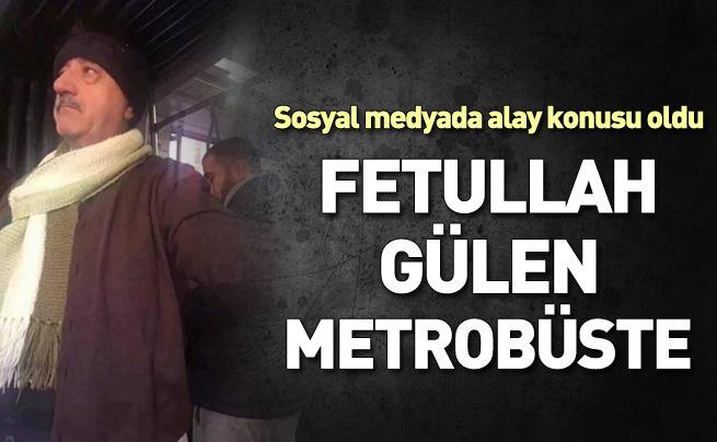 Gülen'e benzeyen adama metrobüste kimse yer vermedi