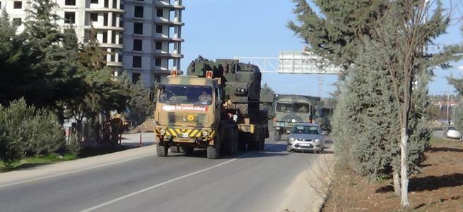 Kilis sınır bölgesine askeri sevkiyat