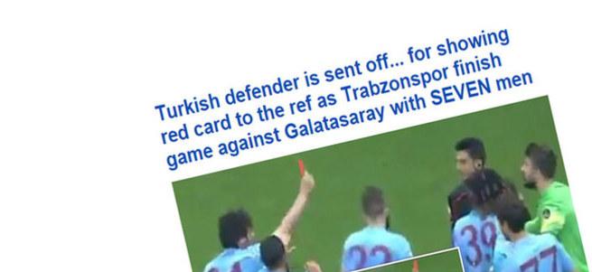 Salih Dursun'un hakeme kart göstermesi Avrupa basınında