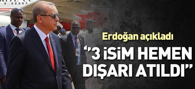 Erdoğan: Üç Paralel isim tespit ettik