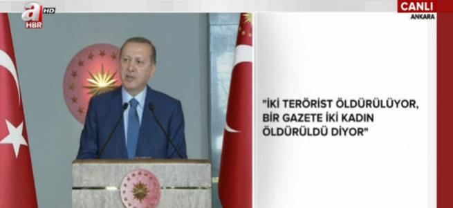 Erdoğan 8 Mart resepsiyonunda konuşuyor