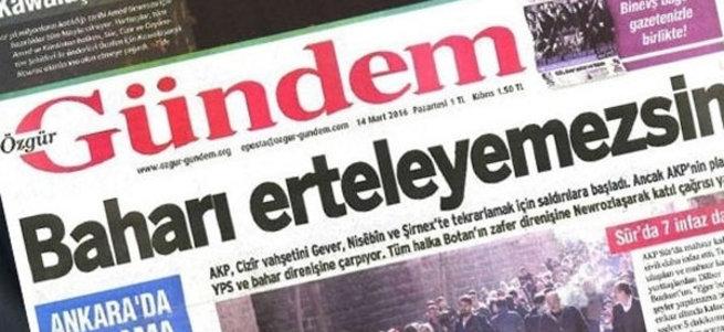 PKK'nın sesi Özgür Gündem'de çalışanların basın kartları iptal edildi
