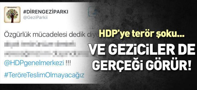 Geziciler'den HDP'ye terör şoku!