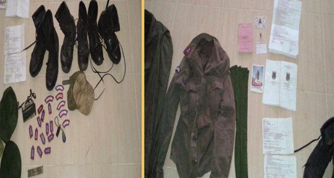 Nusaybin'de askeri kıyafetler ele geçirildi