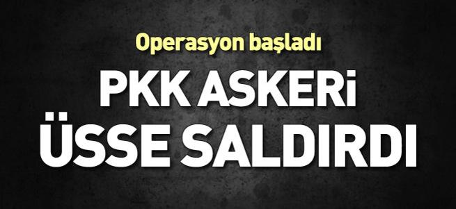 PKK üs bölgesine saldırdı, çatışma çıktı