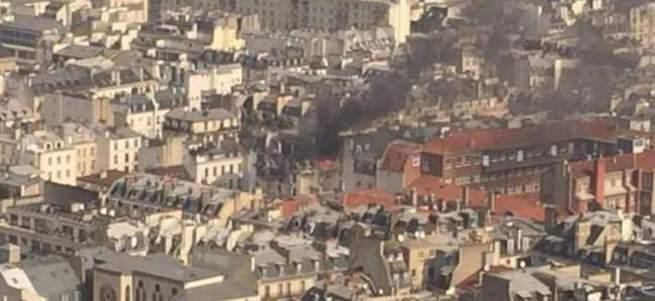 Paris'te patlama meydana geldi!