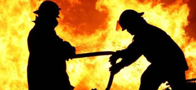 Ankara'da askeri bölgede yangın