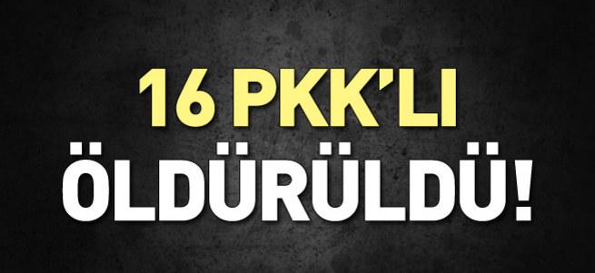 Yüksekova'da 16 PKK'lı öldürüldü!