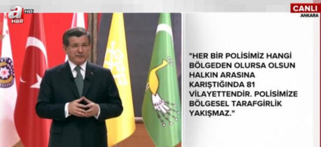 Başbakan Davutoğlu Polis Akademesi'nde konuşuyor