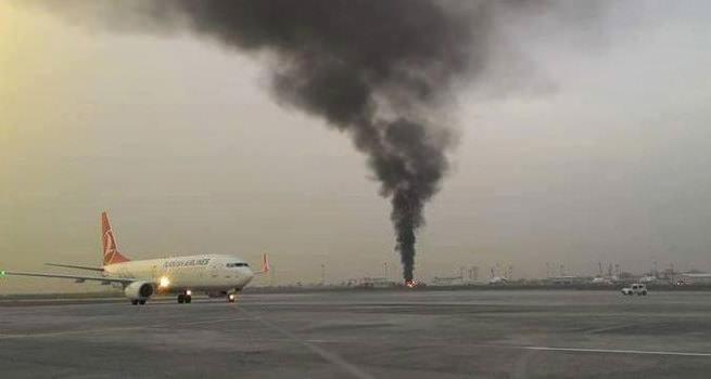 Atatürk Havalimanı apronunda yangın