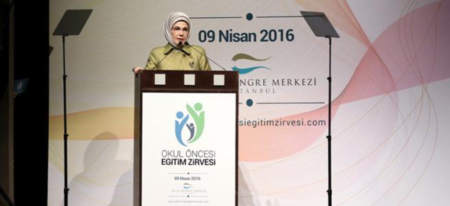 Emine Erdoğan okul öncesi eğitimin önemine dikkat çekti