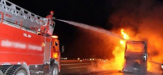 İstanbul'da 4 otobüs alev alev yandı