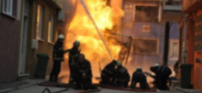 Eskişehir'de doğalgaz borusu patladı