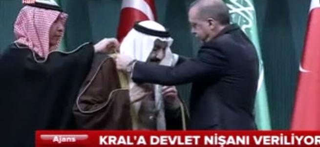 Suudi Kral'a Devlet Nişanı verildi