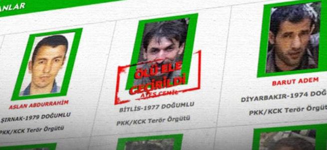 1 milyon TL ödülle aranan terörist ölü ele geçirildi