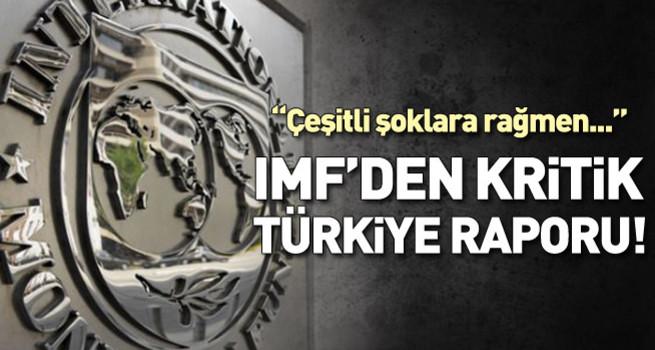 IMF kritik Türkiye raporunu yayınladı