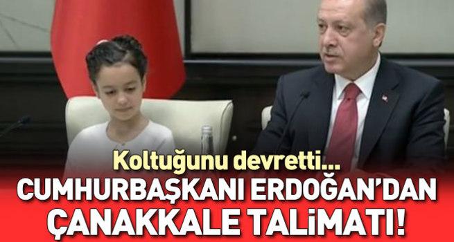 Cumhurbaşkanı Erdoğan minikleri ağırlıyor