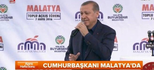 Cumhurbaşkanı Erdoğan Malatya'da konuşuyor