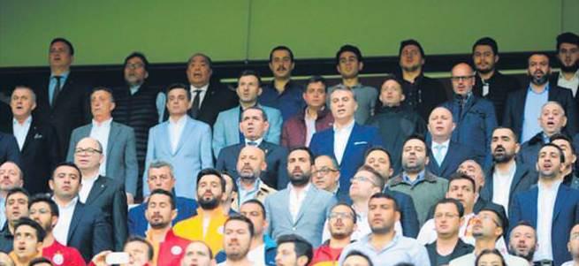 Başkanlar birlikte izledi