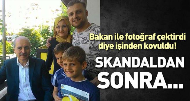 'Bakan ile birlikte ailesinin fotoğrafını paylaştı işinden oldu' iddiası