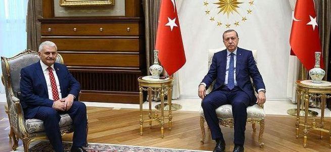 Cumhurbaşkanı Erdoğan, Binali Yıldırım ile görüştü