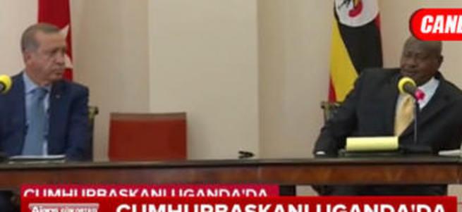Erdoğan ve Uganda Cumhurbaşkanı Musevei ortak basın toplantısı düzenledi
