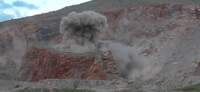 Muş'ta 1 ton bomba böyle imha edildi!