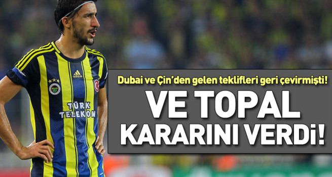Mehmet Topal, Fenerbahçe'de kaldı
