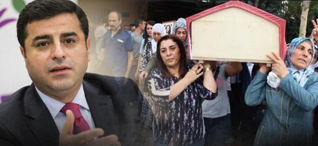 HDP'liler ceset taşırken Demirtaş İngiltere'de bakın ne anlattı