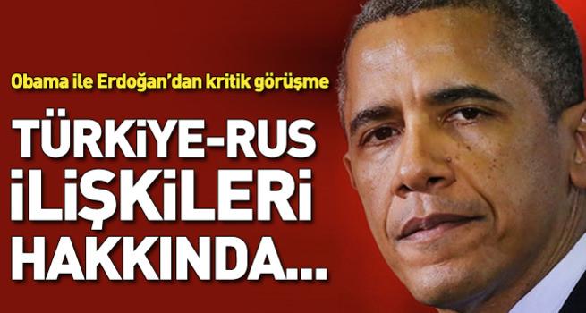 Obama'dan Türkiye-Rusya açıklaması