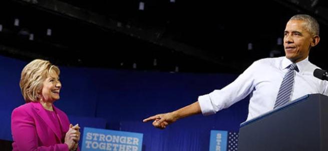 Obama, ilk kez Clinton'ın seçim mitingine katıldı