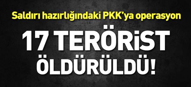 17 PKK'lı öldürüldü