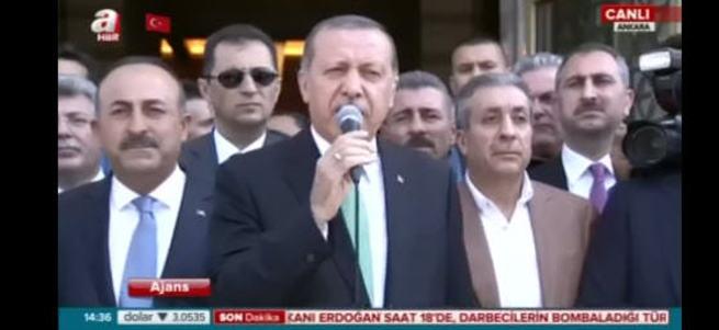 Cumhurbaşkanı Erdoğan Millet Camii'nde