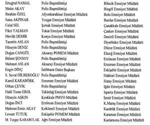 59 İlin Emniyet Müdürü değişti yeni görevlendirmelerin tam listesi