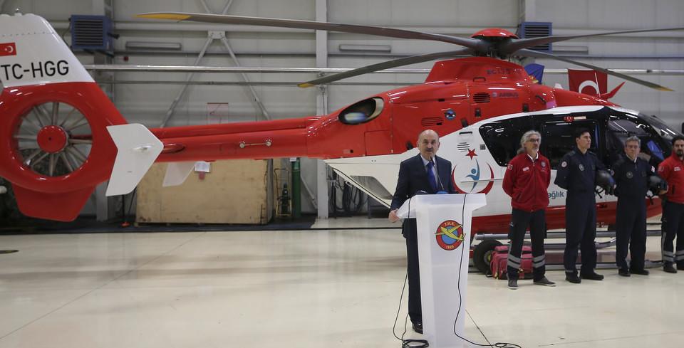 ��te gece görü�lü ambulans helikopterimiz